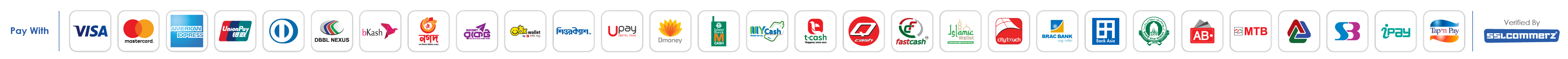 Most Popular & Secure Payment Options